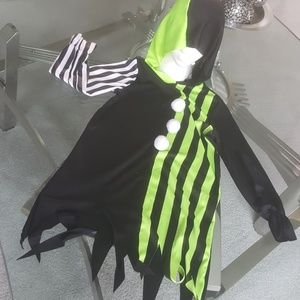 Other - Green/black hooded jester/clown.